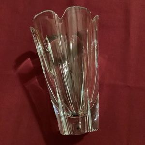 "Orrefors Corona Crystal Vase 8.25"" Tall"